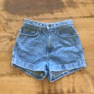 American Apparel High Waisted Shorts XS 24